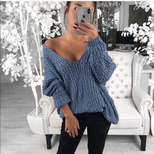 NEW Harvest in Powder Blue Sweater ekattire